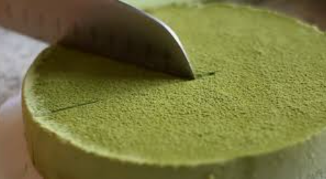 Green tea cheesecake, no baking, no oven